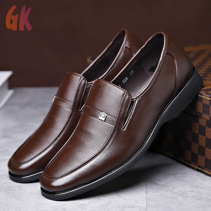 GKD✔ รองเท้าคัชชู loafer รองเท้าหนังแฟชั่น รองเท้าหนังแท้ รองเท้าโลฟเฟอร์ ผู้ชาย รองเท้า รองเท้าหนังแบบผูกเชือก 02