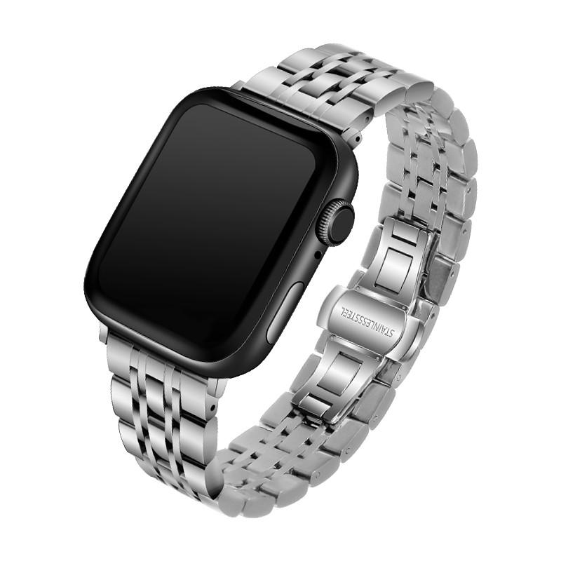 ♧スAPPLE WATCH STRAP สายนาฬิกา iWatch สายเหล็กโลหะสำหรับ Apple Watch Series 6/5/4/3/2/SE สาย Apple