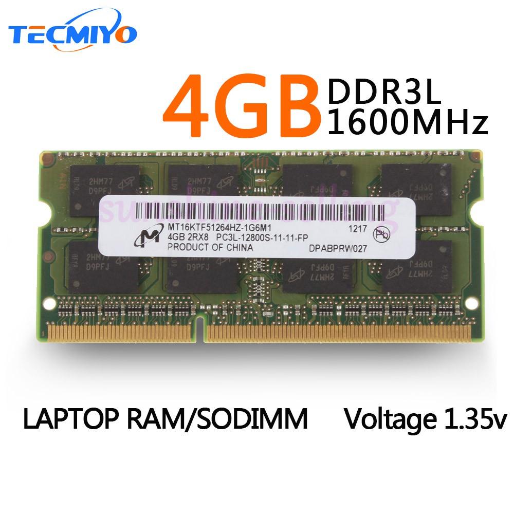 Micron DDR3 1600 MHz PC3-12800 Desktop Memory RAM 1.35V 8 GB 4 x 2 GB