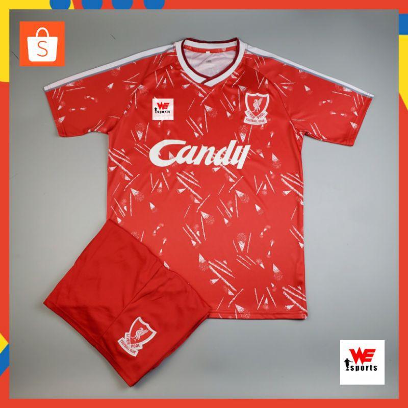❤️❤️ ชุดบอลลิเวอร์พูล ชุดย้อนยุค ฤดูกาล ปี-1989-1990 (เสื้อ+กางเกง)   Liverpool Y1989-1990 Home - Red ❤️❤️