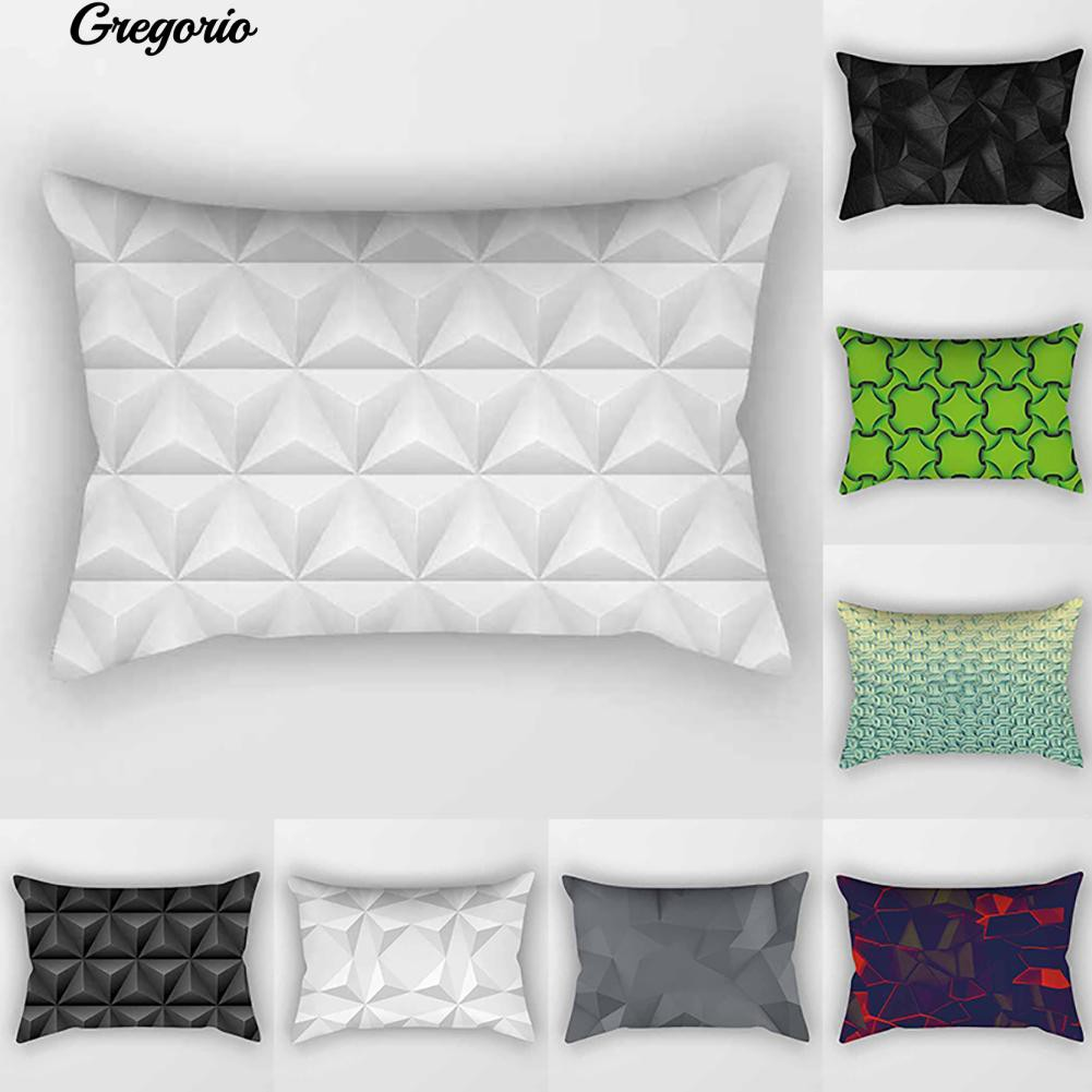 18inch Polyester Geometric Pillow Case Cover Sofa Waist Cushion Cover Home Decor