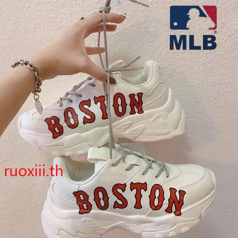 ถูกที่สุด!!พร้อมส่ง New MLB BOSTON  รองเท้ากีฬารองเท้าอเนกประสงค์  สูง 6CM