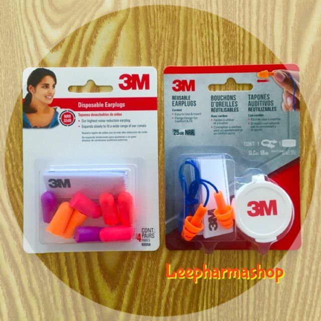 1 Pair NS Soft Fit Corded Triple Silicone Flange Reusable Ear Plugs NRR 25