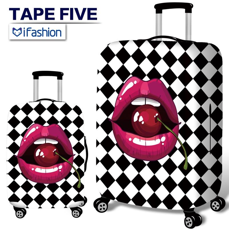ผ้าคลุมกระเป๋าเดินทาง ยืดหยุ่นกระเป๋าเดินทาง 18-32 นิ้วกระเป๋าเดินทางป้องกันครอบคลุมฝุ่นกระเป๋าเดินทางป้องกันกระเป๋าเดินทางอุปกรณ์เสริม