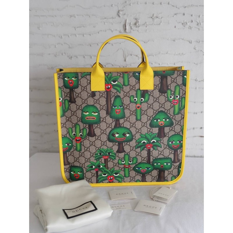 GUCCI CHILDRENS GG CACTUS TOTE BAG
