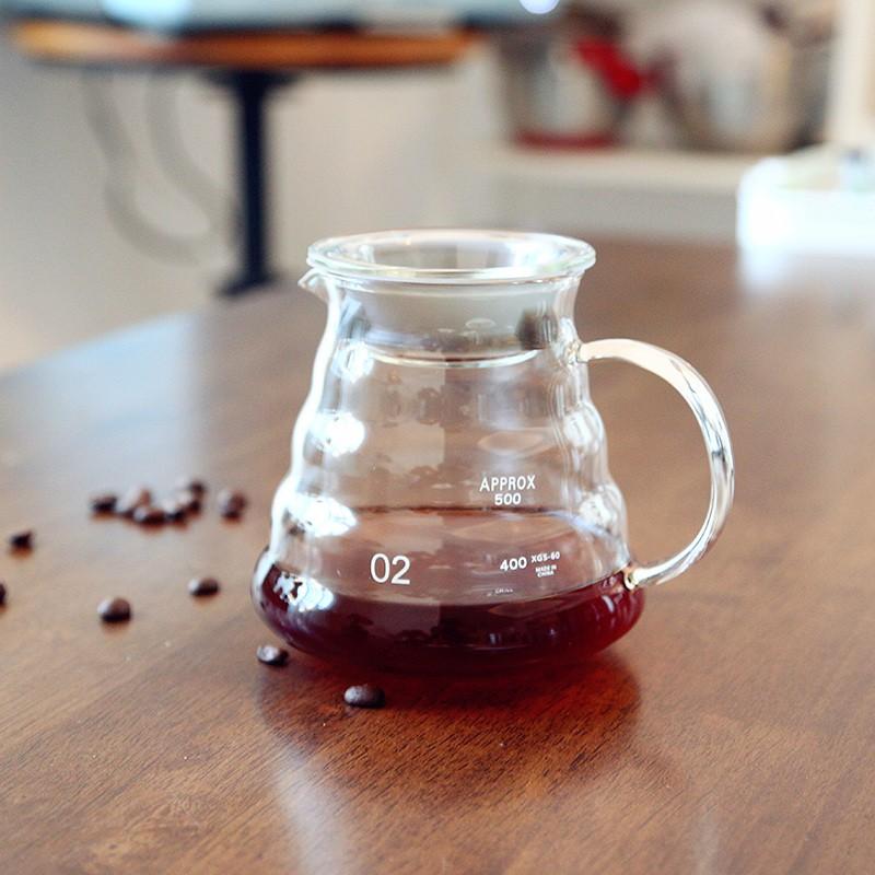เตา moka pot□ஐส่งออกหม้อกาแฟแก้วหนาใช้ร่วมกัน ชุดเครื่องชงกาแฟทำมือในครัวเรือน หม้อหม้อกาแฟทำมือหม้อเมฆ