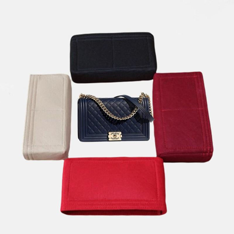 ˜✎ กระเป๋าเดินทางกันน้ำ กระเป๋าเก็บของ เหมาะสำหรับ chanel Chanel boy flap bag ซับในขนาดใหญ่, กลางและเล็กกระเป๋าเก็บกระเป