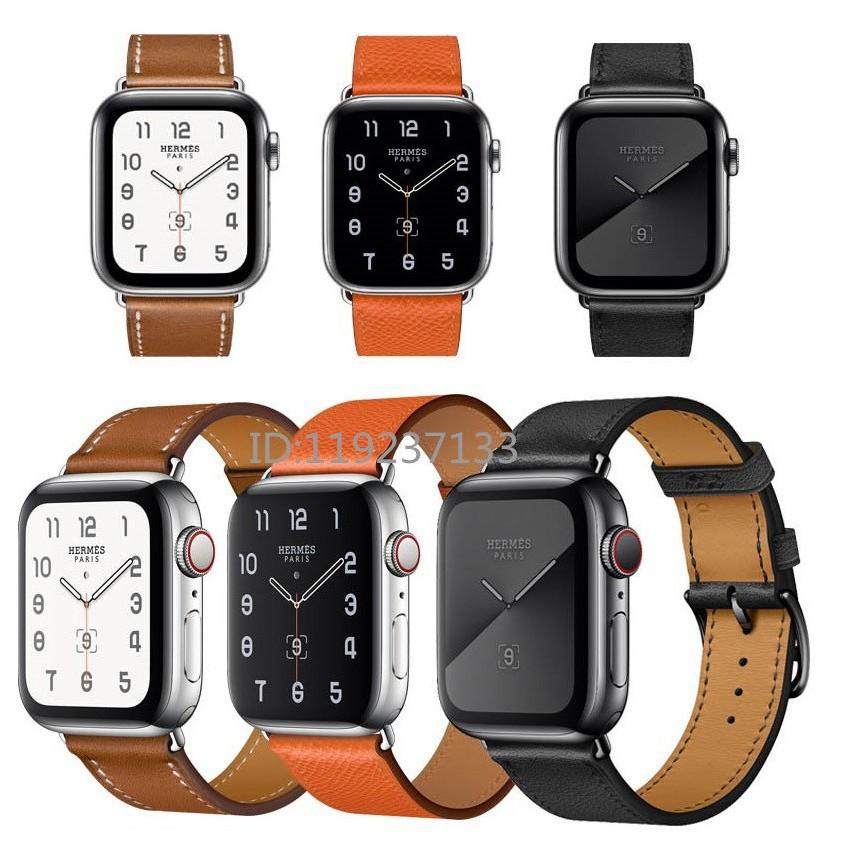 สาย applewatch สายนาฬิกา applewatch สาย Apple Watch Strap 38/40 มม. 42/44 มม. หนังนุ่มทนทานสำหรับ iWatch Series SE 6/5/4