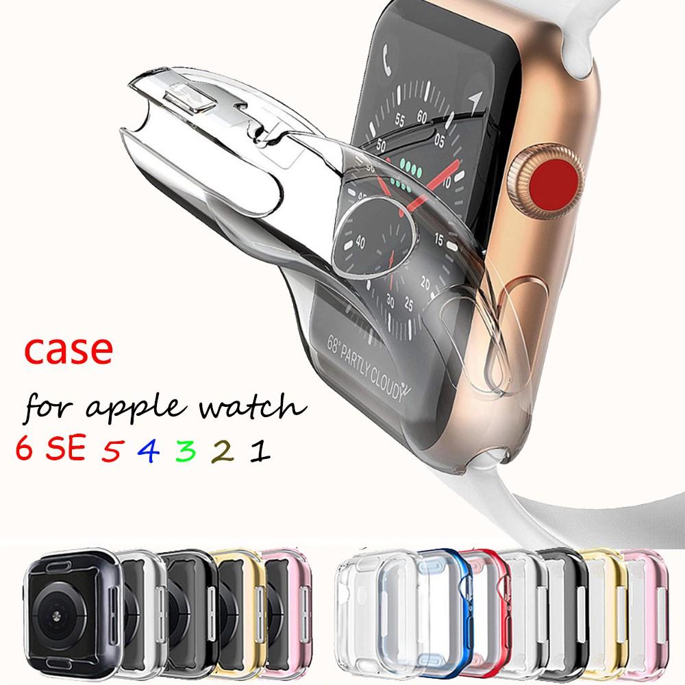 พร้อมส่ง สาย applewatch case เคส ฟิล์ม apple watch ชุด 6/SE/5/4/3/2/1 ขนาด 38มม.40มม.42มม.44 มม