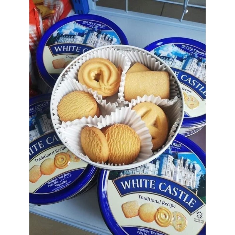 Sale🔥3กระปุก150🔥คุกกี้พระราชวัง Butter Cookies White Castle คุกกี้นำเข้าจากมาเลเซีย