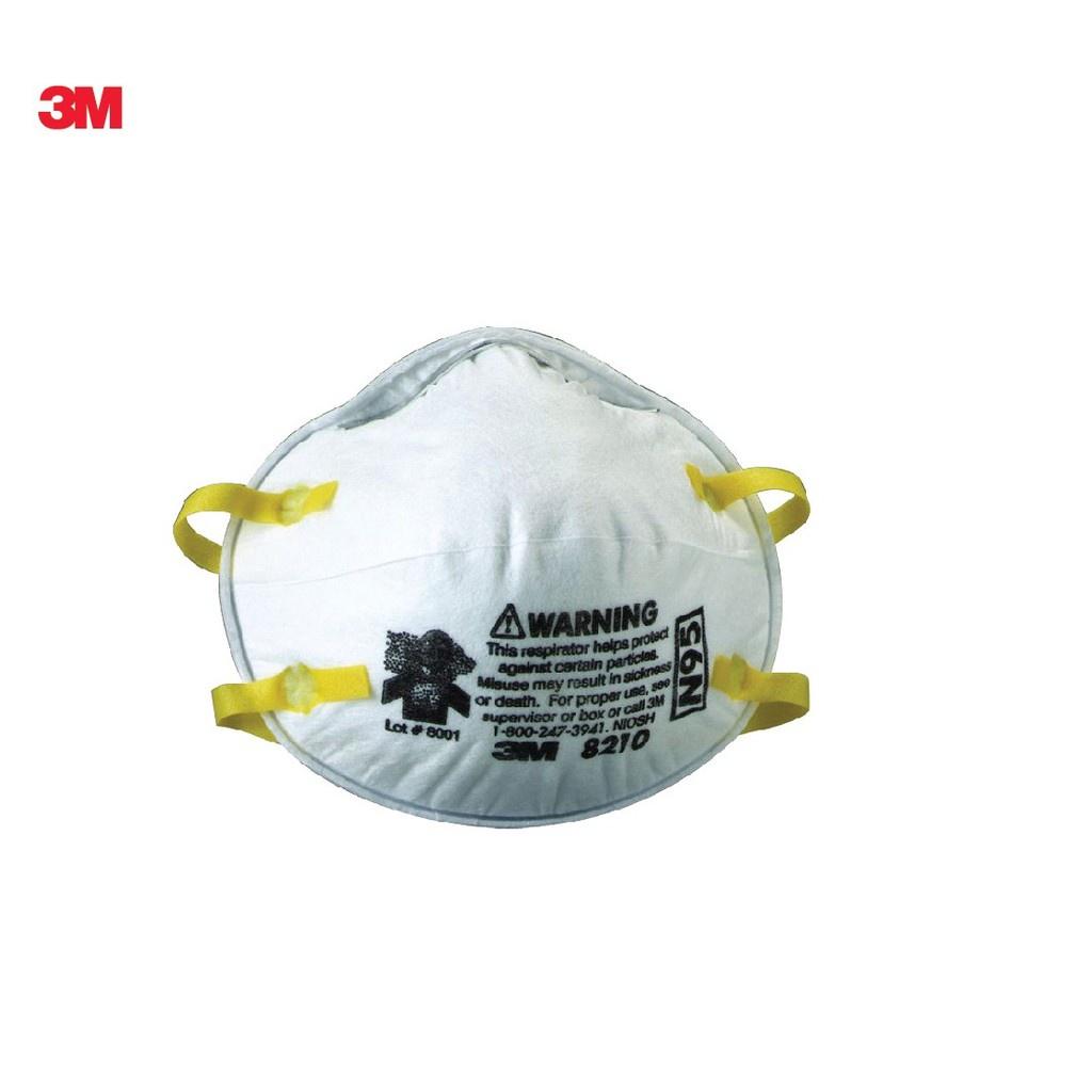 ✶☌☁【สินค้าเฉพาะจุด】 3M 1 ชิ้น หน้ากากป้องกันฝุ่น และไวรัส 8210 N95 สามเอ็ม 8210