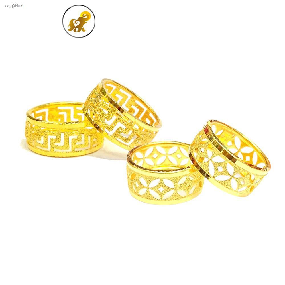 ราคาต่ำสุด▣PGOLD แหวนทอง 1 สลึง หลุยส์ หนัก 3.8 กรัม ทองคำแท้ 96.5% มีใบรับประกัน