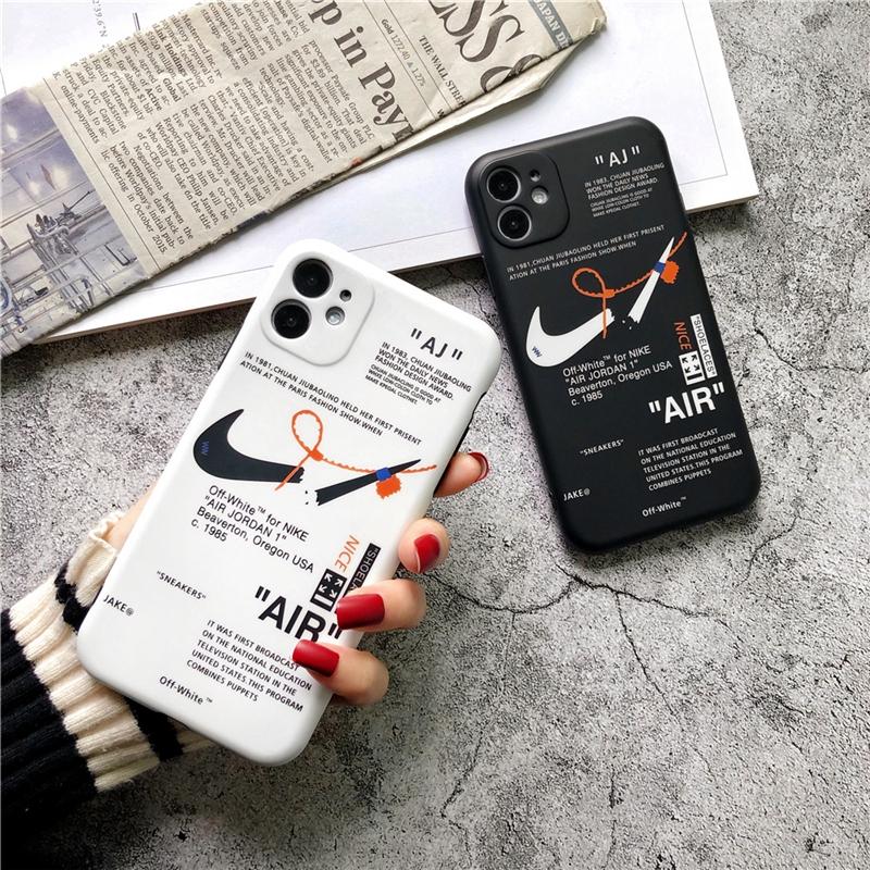 [HOT] !  เคสมือถือ เคสไอโฟน รุ่นแบบบางพิเศษ ขอบนิ่ม Broken hook Nike 85th AJ frosted IMD Apple mobile phone case  iPhone 11/11 Pro 11 Pro Max X XR XS Max 6 7 8 Plus TPU iPhone Se2 Mobile Phone Anti-slip and Anti-fall Protective Case