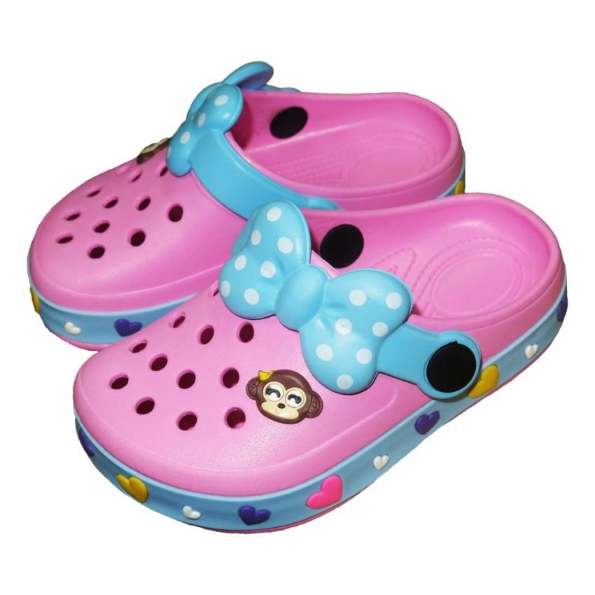 รองเท้าแตะ Prado Gang รองเท้าคัชชู ไฟล่อน สวม เด็กผู้หญิง รุ่น 273 - สี ชมพู