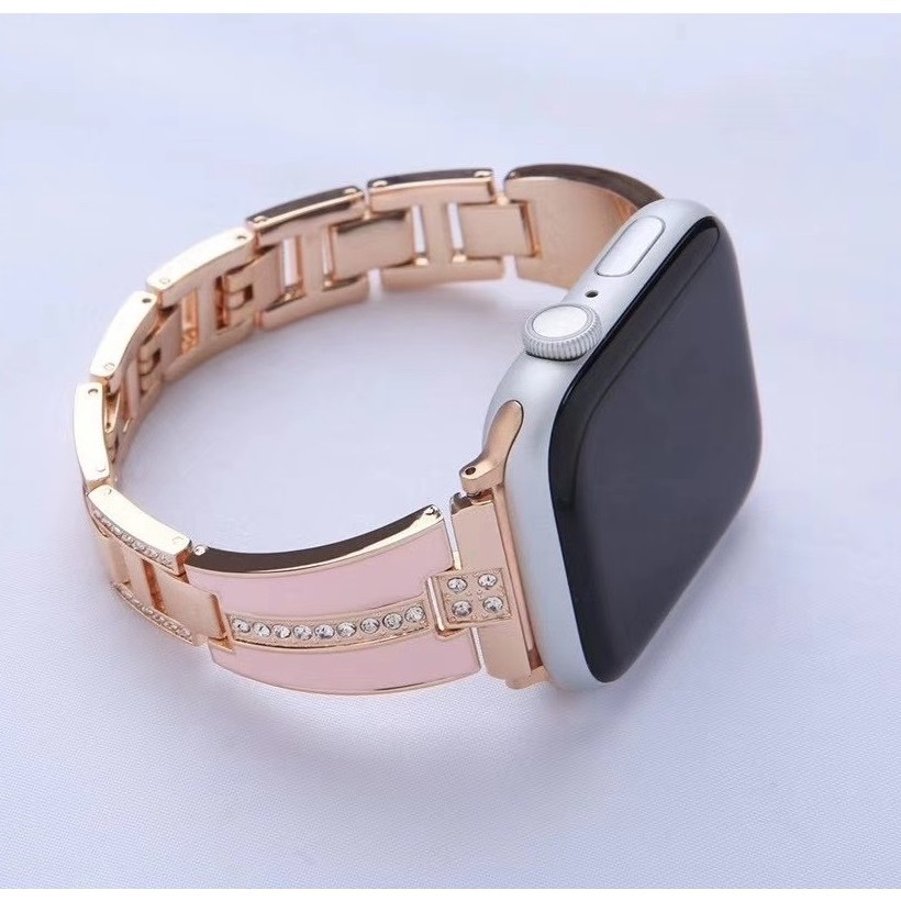 ✣Luxury สายนาฬิกา Apple Watch Straps เหล็กกล้าไร้สนิม สาย Applewatch Series 6 5 4 3 2 1, Apple Watch SE Stainless Steel