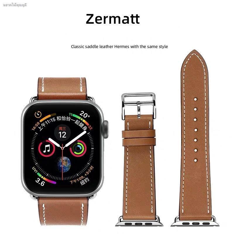 ◐☎พร้อมส่งจากไทย!สาย Apple watch ทุกSeries SE 6/5/4/3/2/1 สายหนัง Leather Band