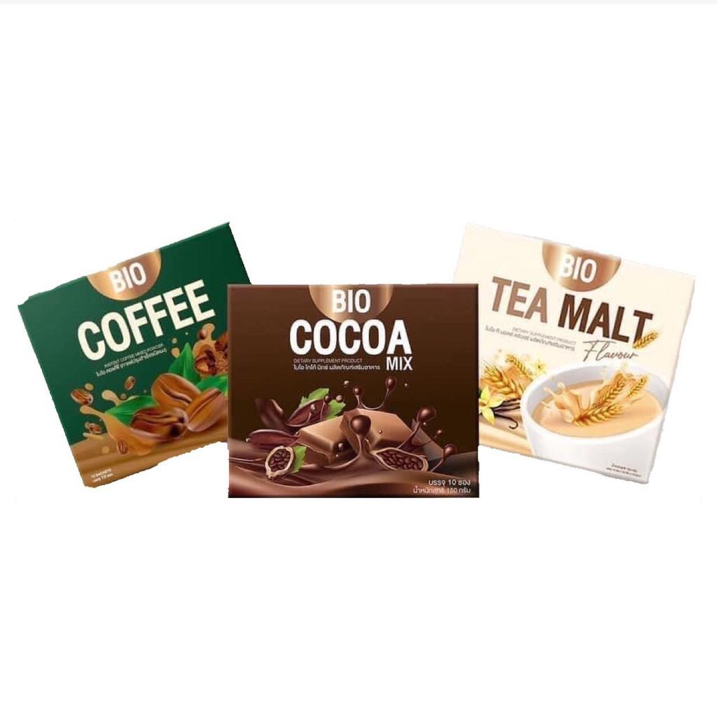 ดีท็อกซ์ detox ลำไส้ Bio Cocoa Mix ไบโอ โกโก้ มิกซ์ / Bio Coffee ไบโอ กาแฟ  / Bio Tea malt ไบโอ ชาไวท์มอลล์ พร้อมส่ง 3 ส