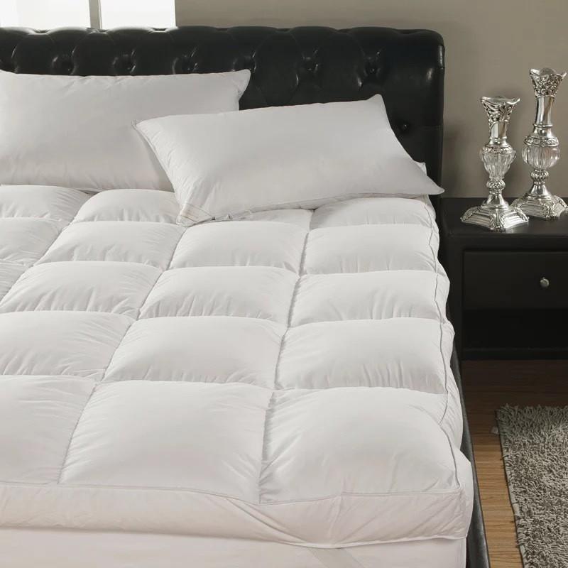 ที่นอน foot Topper ขนห่านเทียม Super Premium Soft 3.5ฟุต/5ฟุต/6ฟุต Topper ขนแกะ เบาะรองนอน