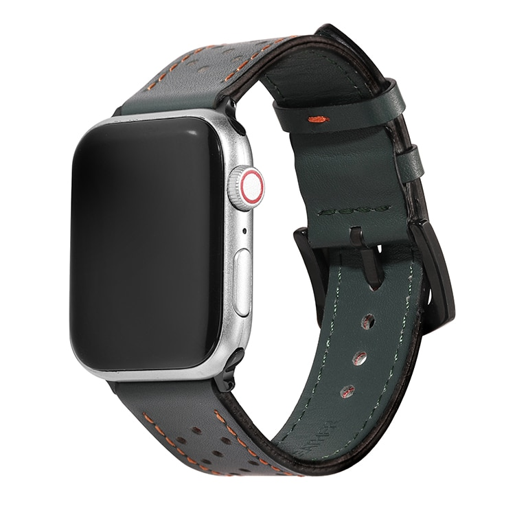 Leather strap apple watch band 44mm 40 Watch Strap for apple watch series 6 se 5 4 watchband for iwatch series 3 2 1