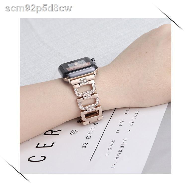【สาย Apple】❧₪✢ใช้ได้กับ iwatch6 Apple Watch สาย applewatch5/4/3/2 generation diamond series S6 bracelet