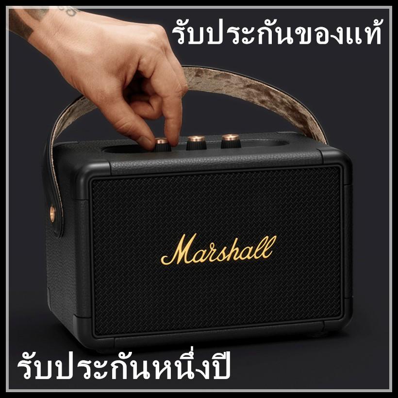 Marshall Kilburn II Black ทองดำ ลำโพงบลูทูธ มาร์แชล ลำโพงบลูทูธเบสหนัก ลำโพงคอมพิวเตอร์ ลำโพง Bluetooth ประกัน 1 ปี rYqo
