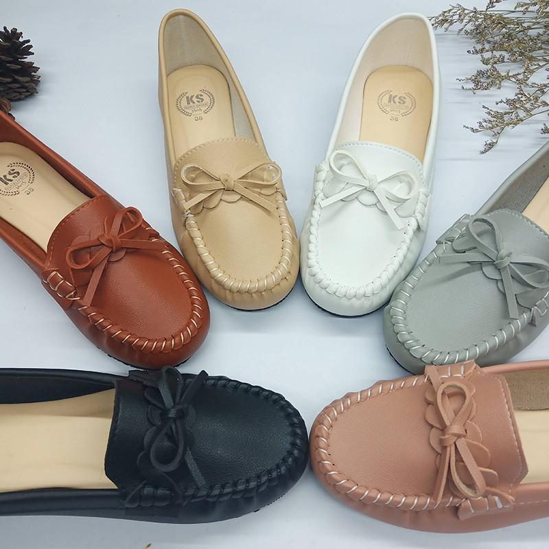 [hot?พร้อมส่ง รหัส812] รองเท้าส้นแบน รองเท้าคัทชู คัชชู รองเท้าหุ้มส้น รองเท้าใส่ทำงาน หนังนุ่ม สไตล์โลฟเฟอร์.