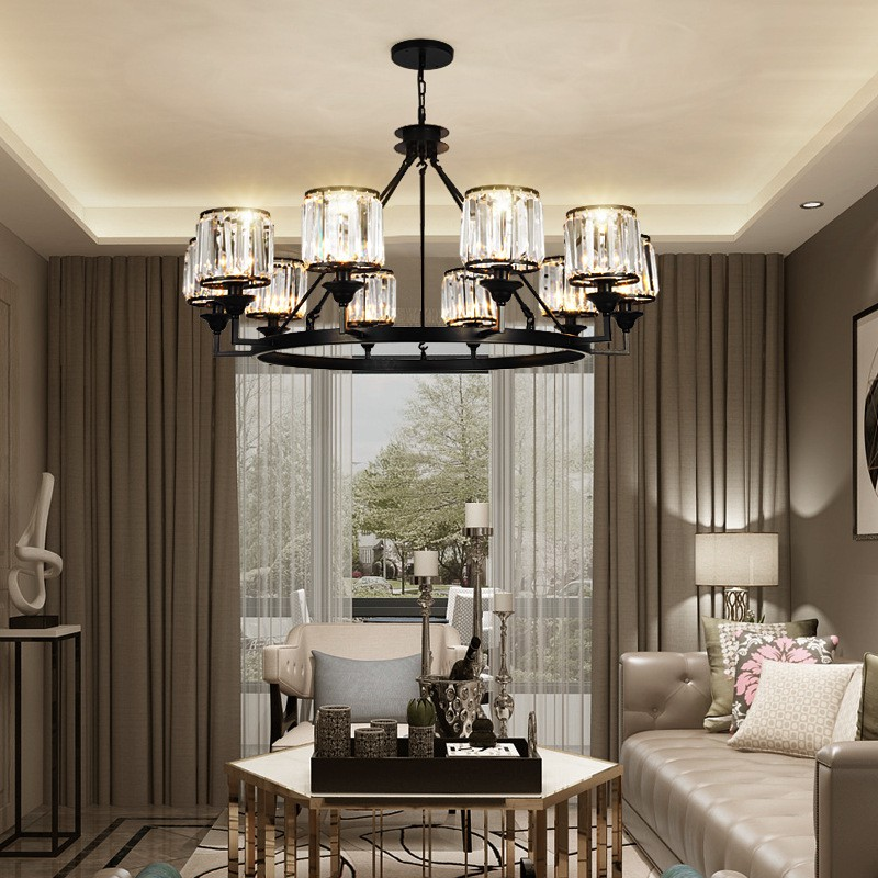 Night Scene Light Luxury American Lamp, Where To Place Chandelier In Living Room