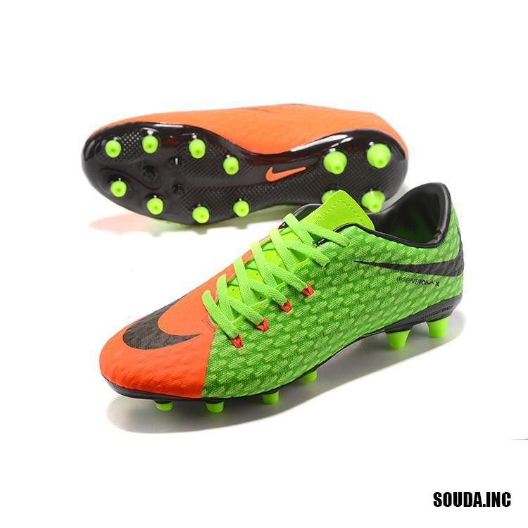Nike hypervenoms pervenoms pelon III AG รองเท้าฟุตบอลสีเขียว