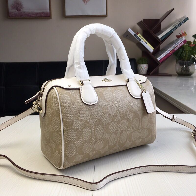bf4812a98ea5d ... canada shock sale coach mini bennett satchel in signature f58312 imdqc  im khaki chalk 2362 ccc22