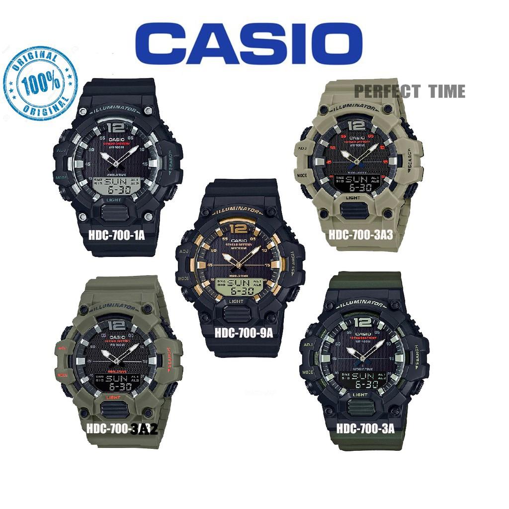 สตรีทแฟชั่น    CASIO ORIGINAL HDC-700 นาฬิกาสปอร์ตดิจิตอลสำหรับผู้ชาย (รับประกัน 2 ปี)