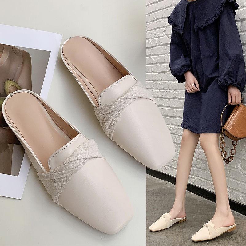 รองเท้าหัวแหลม รองเท้าส้นแบน✨💋 รองเท้าผู้หญิง รองเท้าแฟชั่น รองเท้าคัชชูเปิดส้น แฟชั่นรุ่นใหม่สุดฮิต