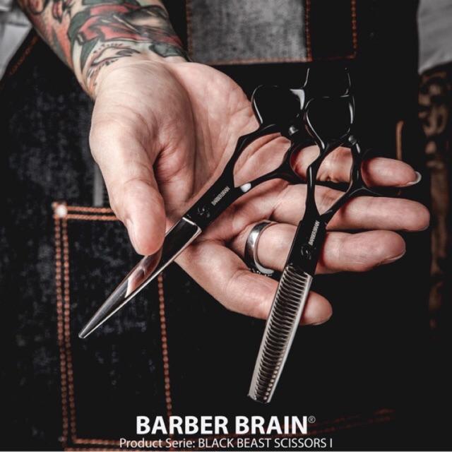 กรรไกรตัดผม ของแท้‼️ BarberBrain 💣  สแตนเลส คุณภาพ‼️ กรรไกร ตัดผม กรรไกรฟันปลา บาร์เบอร์ ปัตตาเลี่ยน หวี