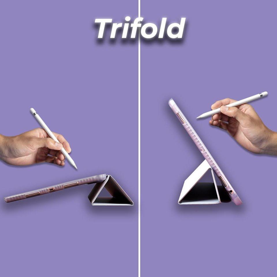 ✳﹉✕เคส iPad 9.7 2018 (Gen6) รุ่น Trifold มีที่เก็บปากกาจาก AppleSheep  เคสไอแพดโปร เคสไอแพดเก็บปากกา