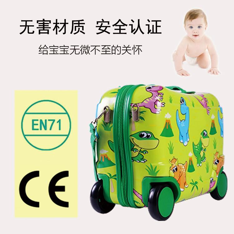 ¢すกระเป๋าเดินทางเด็ก  กระเป๋ารถเข็นเดินทางเด็ก Bouncie สามารถนั่งและนั่งรถเข็นกระเป๋าเดินทางเด็กชายขี่กระเป๋าเดินทางเด็ก