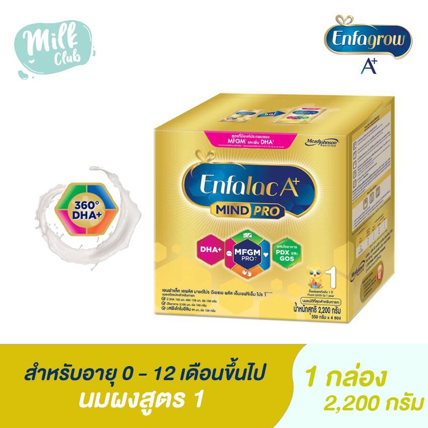 [นมผง ] Enfalac เอนฟาแล็ค เอพลัส สูตร 1 สำหรับเด็กแรกเกิด - 1 ปี ขนาด 2,200 กรัม