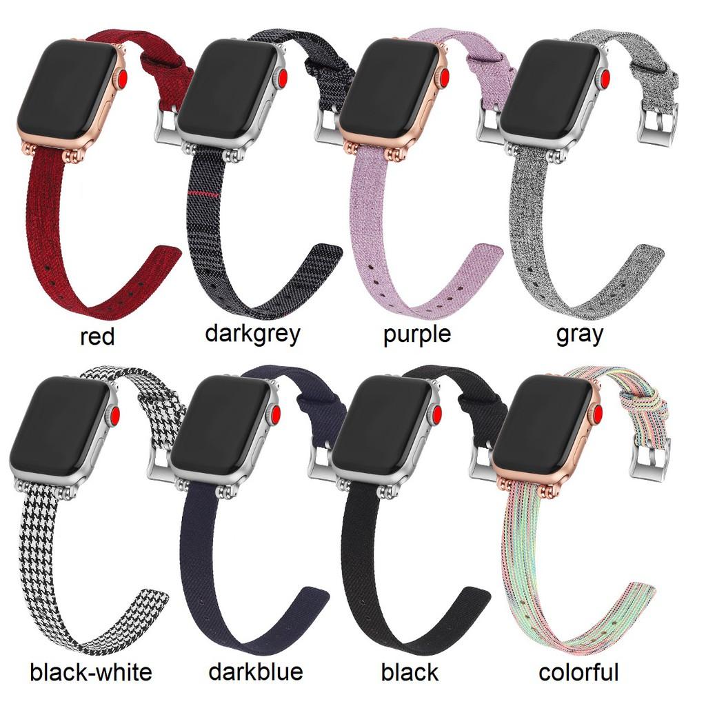 สายนาฬิกา Apple Watch สาย Premium Canvas applewatch Series 1/2/3/4/5/6,Apple Watch SE iwatch สายนาฬิกาข้อมือ size 38mm 4