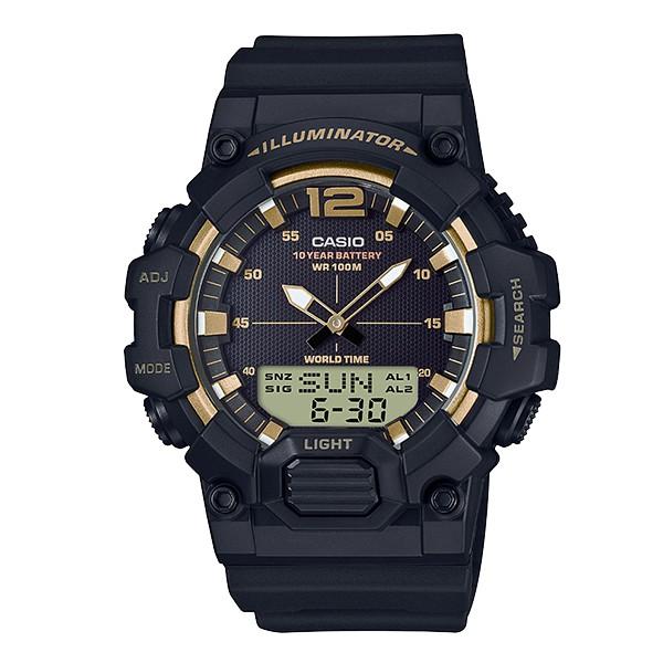 นาฬิกาข้อมือแบรนด์ CASIO HDC-700-9AV สีดำทองด้าน