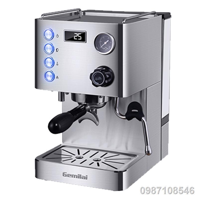 ┅เครื่องชงกาแฟ Gemilai CRM3007D เครื่องทำไอน้ำกึ่งอัตโนมัติในครัวเรือนของอิตาลี เครื่องชงกาแฟสดระดับมืออาชีพ