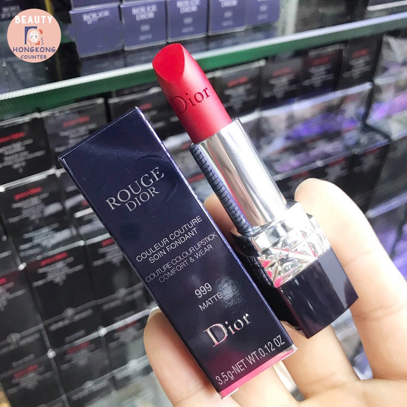 DIOR ROUGE Couture Colour Lipstick 999# 888# 1.5g ฮ่องกงช็อปปิ้ง แท้100% tVMY