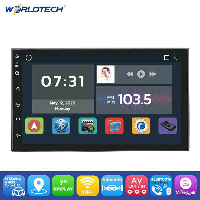 สินค้าใหม่จอ2 Din7นิ้วLED No Cd Android เวอร์เทค ram 2gb Android Version 9.1  รุ่นใหม่เสียงดี ภาพชัด