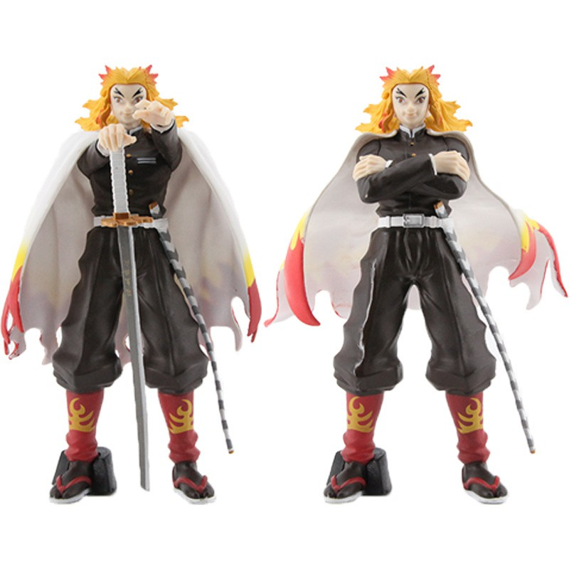 ดาบพิฆาตอสูร Demon Slayer ดาบพิฆาตอสูร Kimetsu No Yaiba Pillar of Flame Rengoku Kyoujurou Action Figure 18.5cm Model
