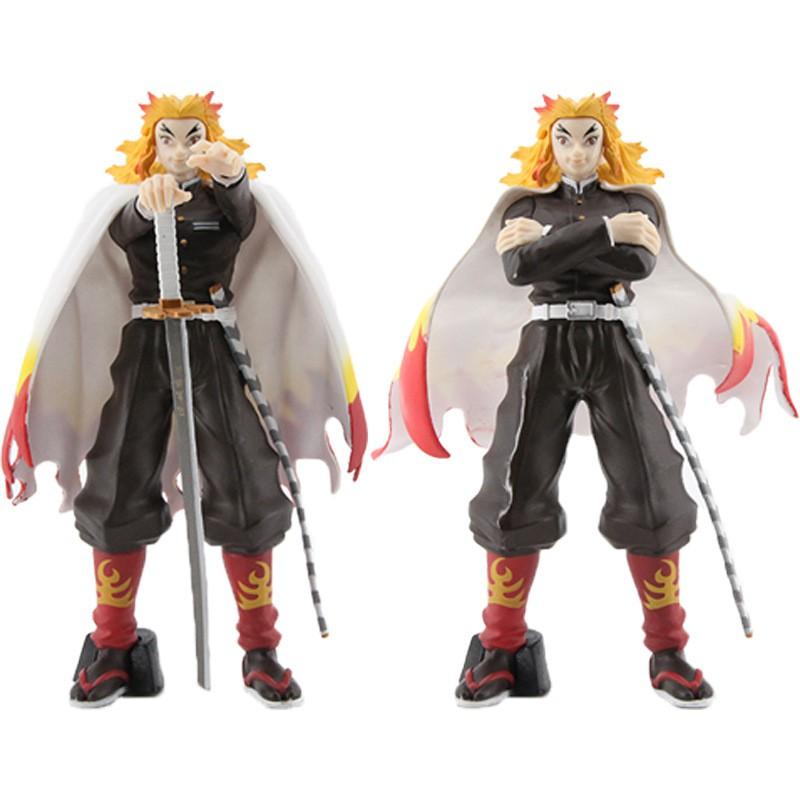 ดาบพิฆาตอสูร Demon Slayer ดาบพิฆาตอสูร Kimetsu No Yaiba Pillar of Flame Rengoku Kyoujurou Action Figure 18.5cm Model