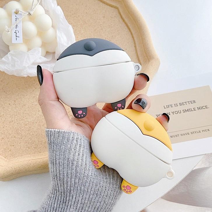 AirPods Pro Corgi dog Three protective case Apple wireless Bluetooth headset silicone soft case