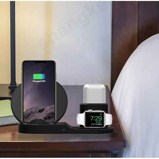 (พร้อมส่งจากไทย) แท่นชาร์จไร้สาย/wireless charger 3 in 1 iPhone Airpods apple watch