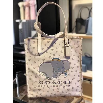 Disney X Coach 69250 กระเป๋าช้อปปิ้งผ้าแคนวาสพิมพ์ลายการ์ตูนช้าง