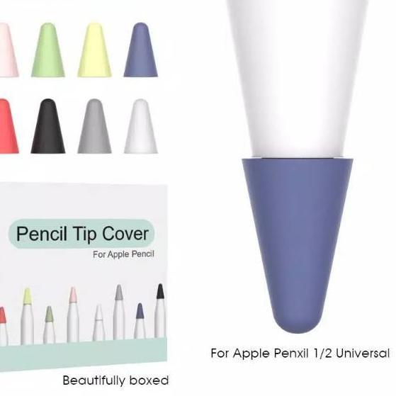 Xbagus ปลอกซิลิโคนป้องกันดินสอ Apple Pencil Gen 1 2 Tip 8 ชิ้น