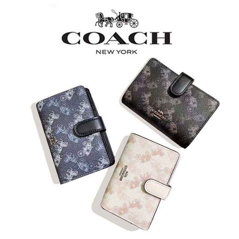 ข้อเสนอส่วนลดเวลา จำกัด COACH F87936 กระเป๋าสตางค์หนังผู้หญิงพับได้ / พิมพ์กระเป๋าสตางค์ใบสั้น / ที่ใส่บัตรหลายใบ HtTi