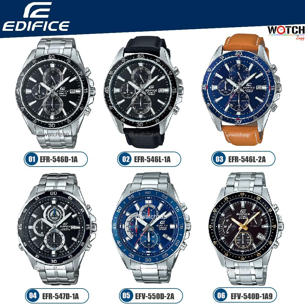 Casio Edifice Chronograph นาฬิกาข้อมือผู้ชาย สายสแตนเลส รุ่น EFR-546L EFR-546D EFR-547D EFV-550D EFV-540D