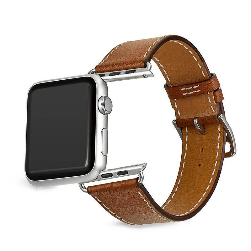สาย applewatch Suitable for Apple Watch strap leather 44/42mm/40/38 applewatch strap