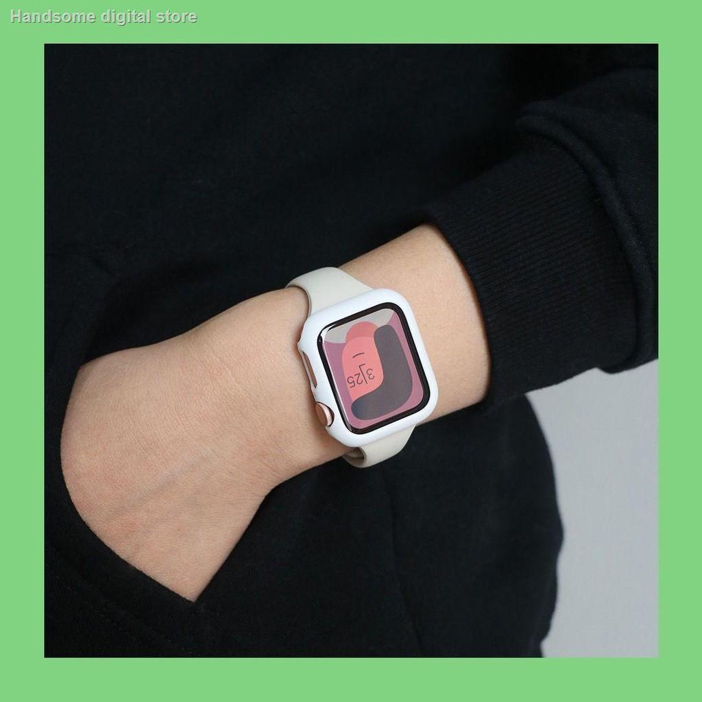 【อุปกรณ์เสริมของ applewatch】❒เหมาะสำหรับซิลิโคน Applewatch สายนาฬิกา Apple Watch iWatch Strap SE654321 รุ่น Candy Cas